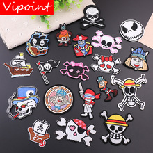 VIPOINT embroidery skull boat patches pirate badges applique for clothing YX-265