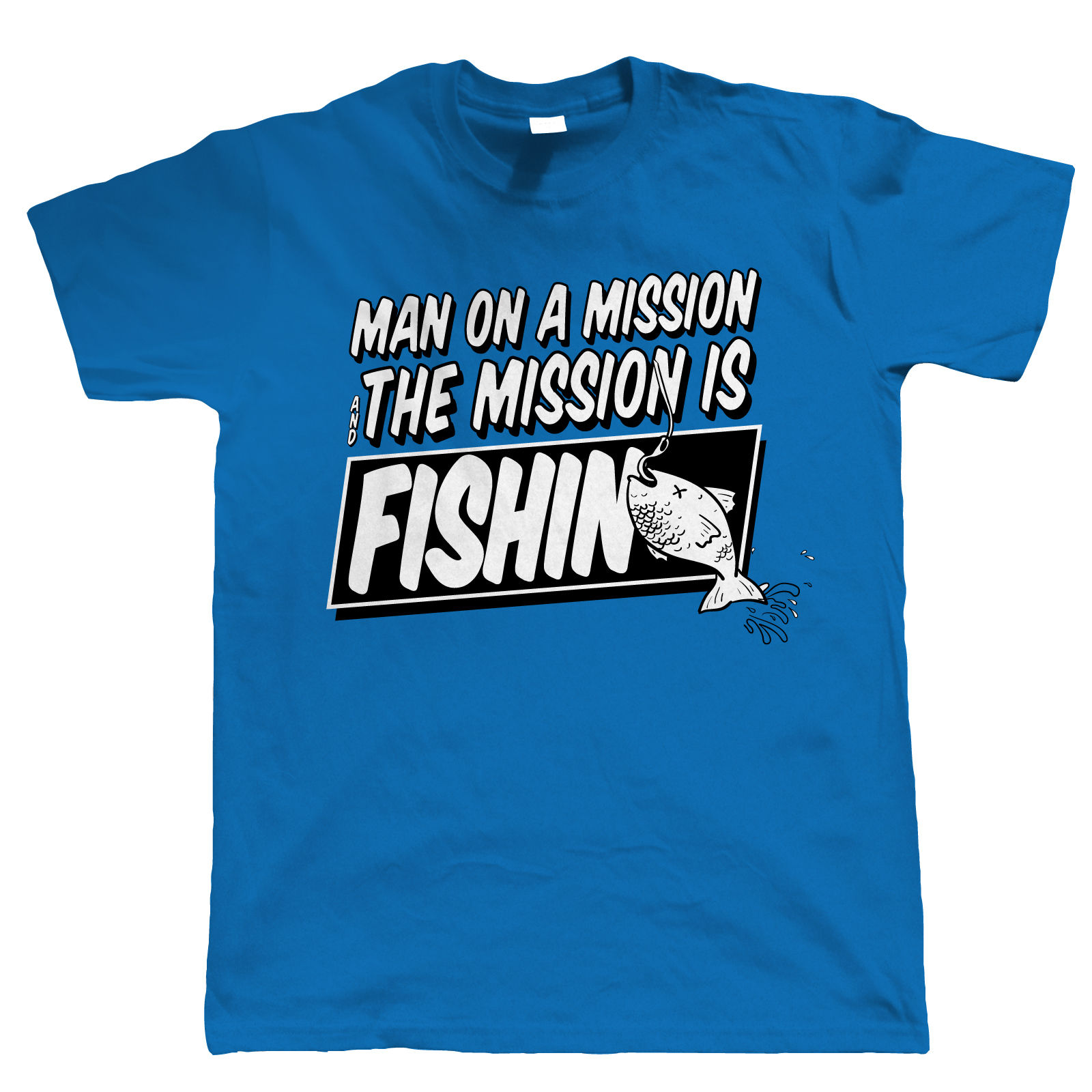 Man On A Mission, Funny Fishinger T-Shirt, Carp Angler Gift for Him Dad Grandad 2018 Summer T-Shirts For Men