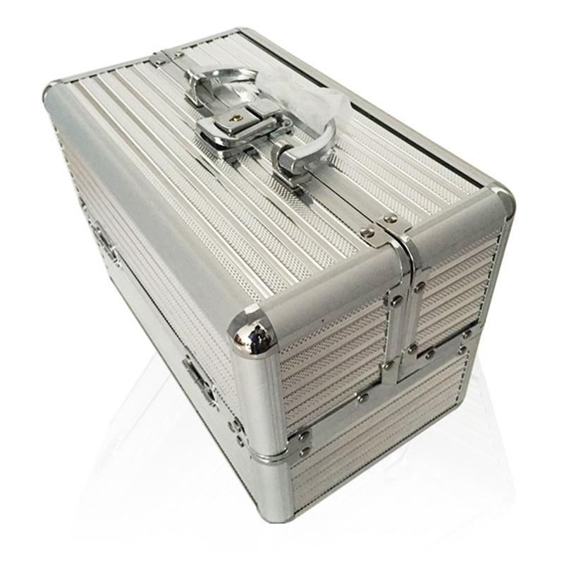 25*16*17cm Multi Compartment Cosmetic Organizer Makeup Tools Storage Box Portable Case Makeup Storage Jewelry Box