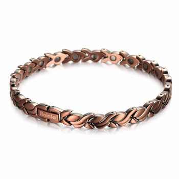 RainSo Fashion Red Copper Magnetic Bio Energy Bracelets & Bangles for Women Healing Magnet Bracelet Female Jewelry OCB-1551 2020