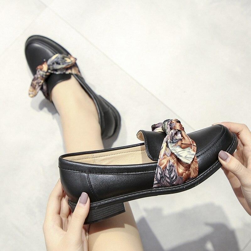 Nouvelle Chaussures Coréenne Chaussures Vent Collège marron Noir Britannique Sauvage Style Petit wAFqSwE