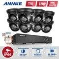 Annke 720 p 8ch 1080 p hdmi kit 8 pcs 1200tvl hd 1.0mp vigilância cctv ir ao ar livre à prova d' água de segurança em casa sistema de câmeras de cftv