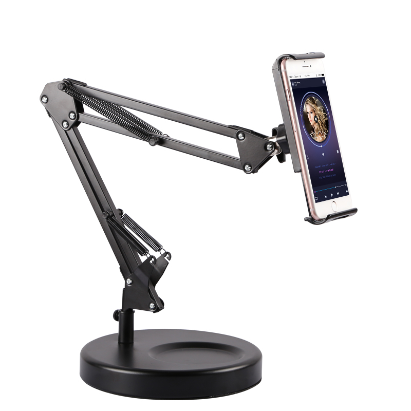 Folding Long Arm Aluminum Tablet Stand for iPad iPhone 4-11 with 360 Swivel Clamp Cell Phone Live Holder Fits Bedside Desk saucony кроссовки женские saucony freedom