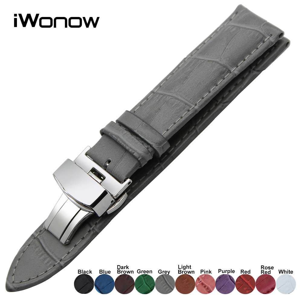 22mm Genuine Leather Watchband for Pebble Time Gear 2 Neo Live Moto 360 2 46mm Asus ZenWatch 1 2 Men LG G Watch Wrist Band Strap