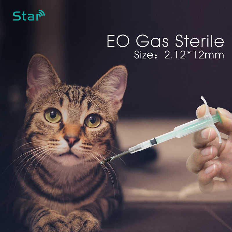 1,4*8 мм ПЭТ микрочипы животный микрочип шприц Pet инжектор ISO11784/785 FDX-B 134,2 кГц мини-чип для собаки, кошки, рыбы лошадь из коровьей кожи