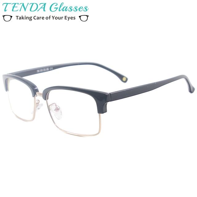 34f9fb12ef Acetato hombres Rim completo Browline Plaza mujeres Rectangular Vintage  gafas de marco para receta miopía lentes