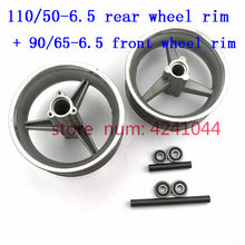 rear Aluminum Wheel hub 90/65-6.5 front or 110/50-6.5 Sprocket Brake disc Axle bearing fits 49cc Mini Dirt Bike e Scooter Moto(China)