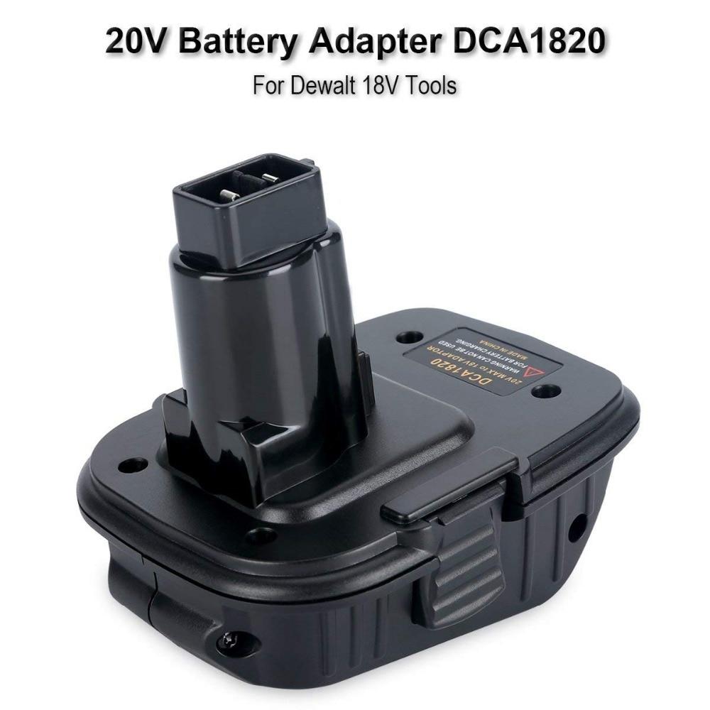Für Dewalt DCA1820 20V MAX zu 18V Adapter konverter Für Dewalt Li-Ion Batterien