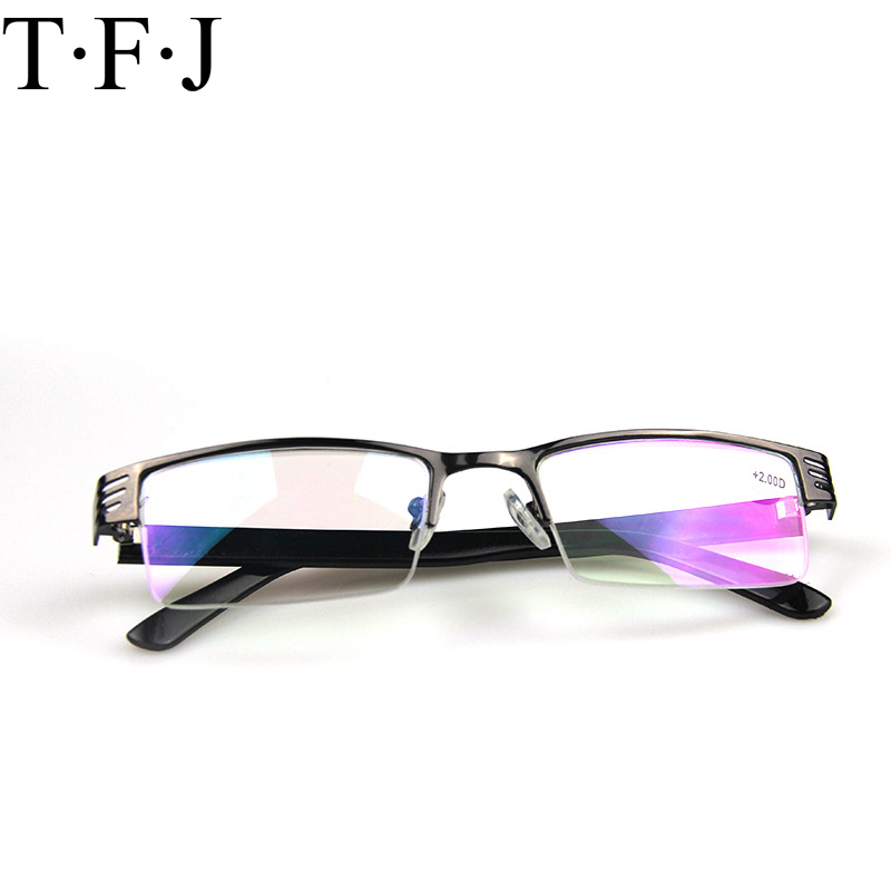 Metal Half Frame Reading Glasses Titanium Men Women For Sight Spectacles Diopter Magnifier Eyewear Lunettes De Lecture Ochki