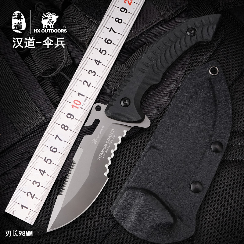 HX OUTDOORS Fixed Blade Knife 440C Steel ,K10 Handle, 58HRC ,Camping Hunting Knives Survival Rescue Outdoor Tools With K Sheath kefo for google nexus 7 ii 2013 case for tablet 7 inch universal flip leather cover for huawei mediapad t1 7 0 t1 701w t1 701u
