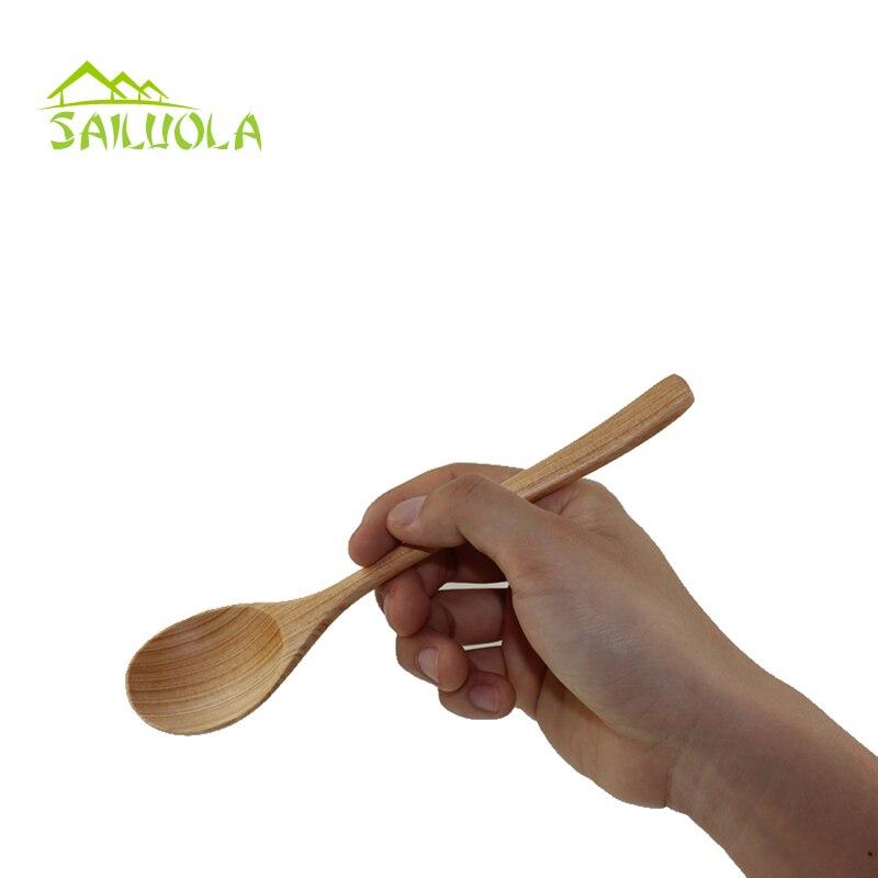 1pc Lingură din lemn de cafea din lemn pentru tacâmuri de - Bucătărie, sală de mese și bar