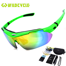 2017 New Polarized Sports Men Sunglasses Road Cycling Glasses Mountain Bike Bicycle Riding Protection Goggles Eyewear 5 Lens