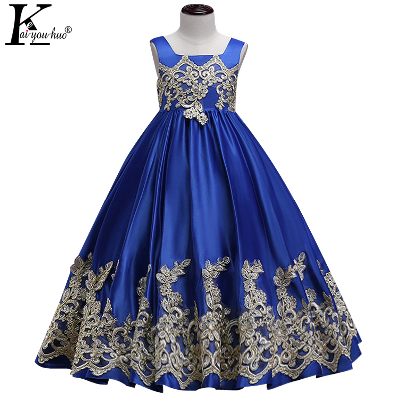 2018 Kids Dresses For Girls Clothes Children Summer Princess Dress Wedding Dress 4 5 6 7 8 9 10 11 12 13 14 Years Teenager Dress girls maxi dresses baby clothes party tutu dress flower girls wedding princess dress kids 4t 5 6 7 8 9 10 11 12 13 15 years old