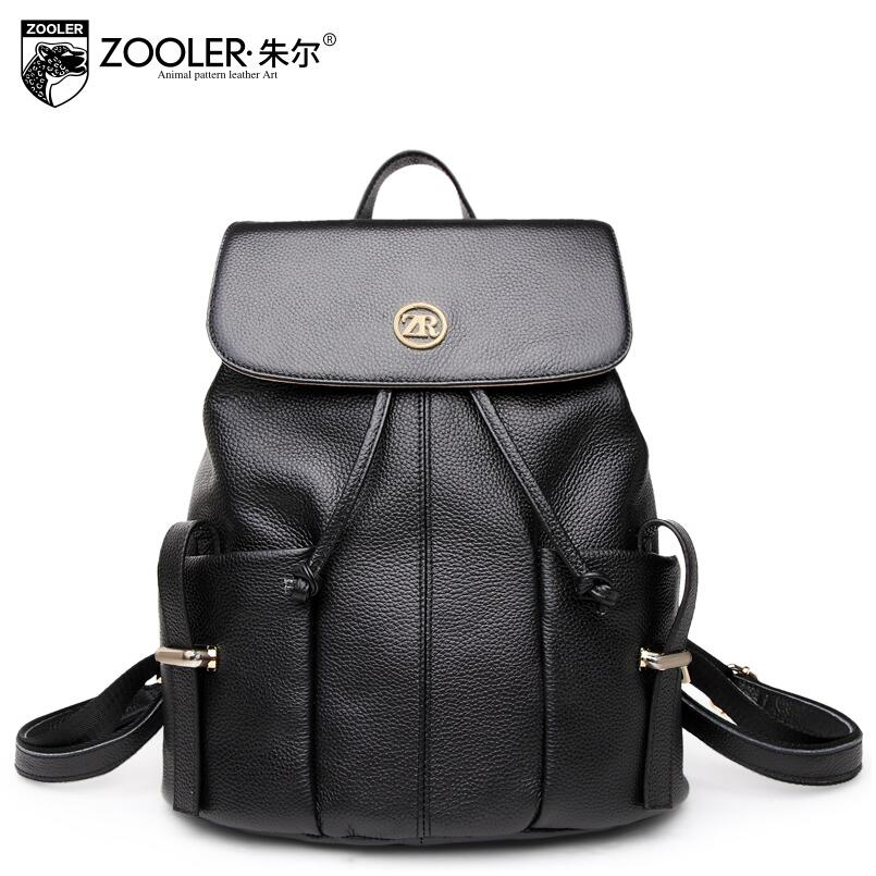 Zooler 2017 New superior cowhide women genuine leather backpack fashion leisure backpack women famous brands backpack