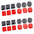 12pcs Helmet Accessories 3M Sticker Flat Curved Adhesive Mount Kit for GoPro Hero 5 4 3+ 3  Go Sport Camera Action accessories