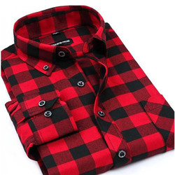 New flannel men plaid shirts spring autumn warm men s casual cotton long sleeved shirt male.jpg 250x250