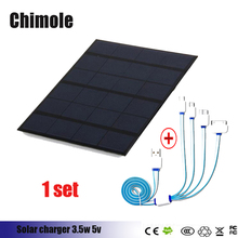Chimole 6V 3.5W USB Solar Charger Panel Outdoor Travel Portable Power Bank with USB Interface for Smartphone Smartwatch