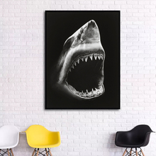 dolphin Painting Canvas Wall Art Picture Home Decoration Living Room Print Large Robert Longo Shark