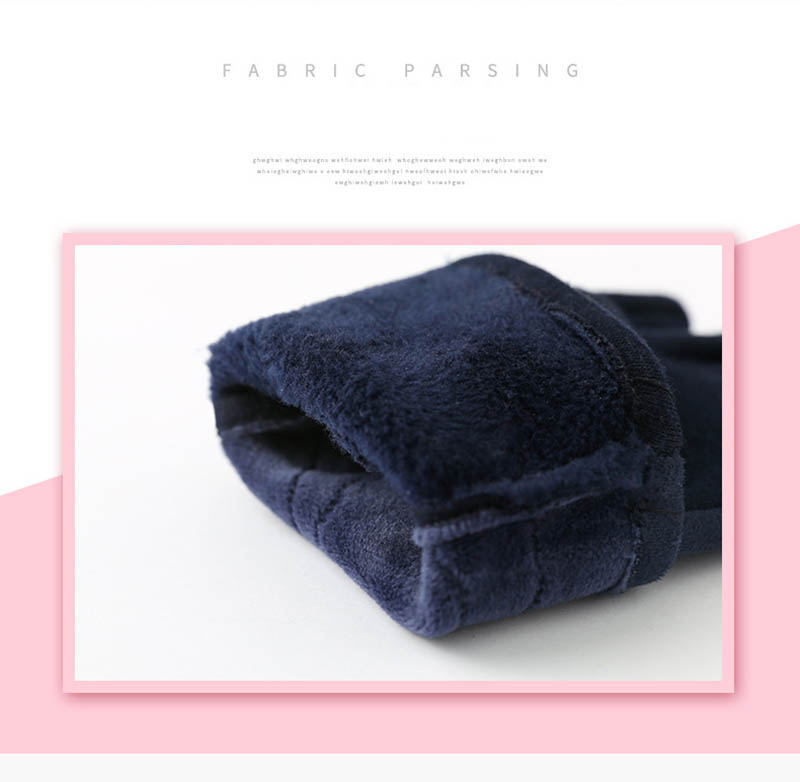 Winter Windproof Touch Screen Gloves for Female made of Cashmere Suede Leather Allows to Use Touch Screen Device Freely 7