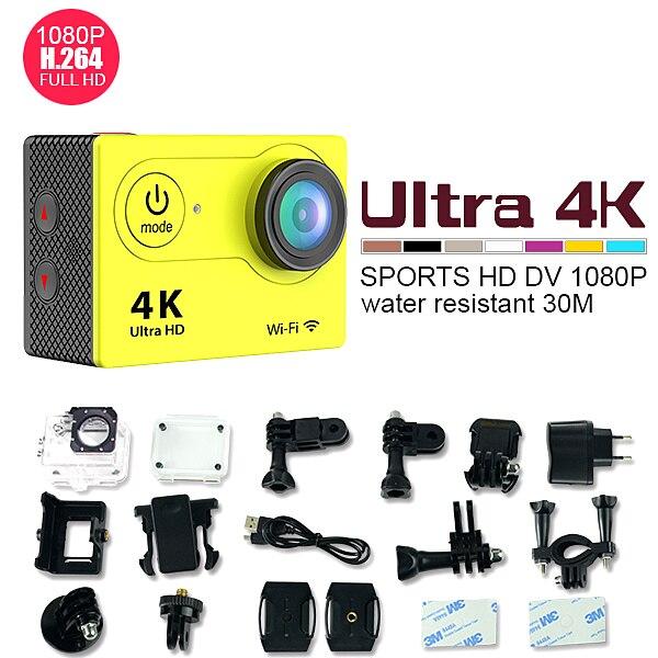 Super mini cámara del deporte de acción serie 170D H9 lente de visión amplio 4 k