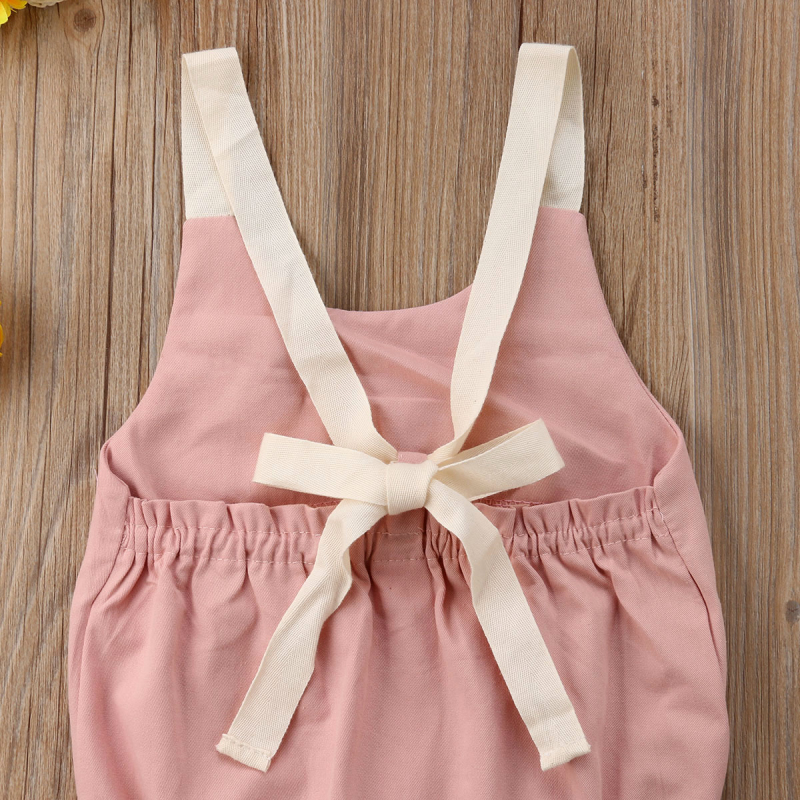 HTB1YpGpv98YBeNkSnb4q6yevFXaE 0-24M Newborn Kid Baby Girl Clothes Summer Bowknot Backless Romper Casual plain Outfits Infantil Clothing  costume