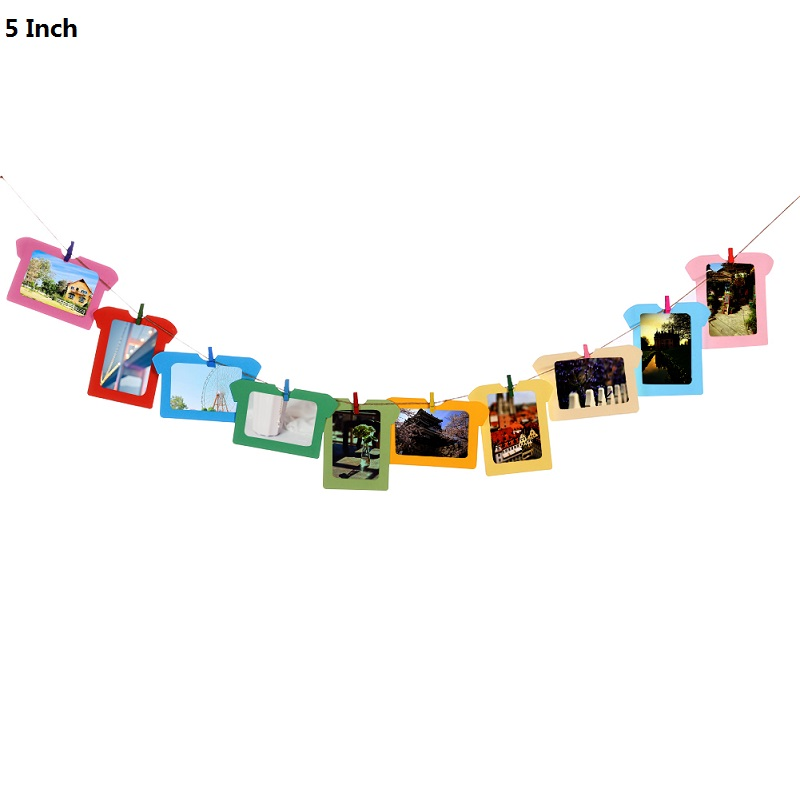 Wall Photo Frames with 10 Clips and Rope 4