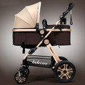 Belecoo коляски может лежать портативный складной подвеска высокая пейзаж детская коляска