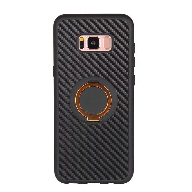 Luxury Soft Carbon Silicon Cases for Samsung Galaxy S8 plus Case Galaxy S7 edge Cases Galaxy S6 S7 edge S8 Cover Phone Holder