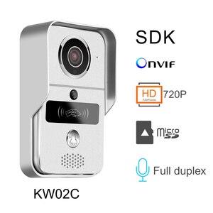 Image 3 - を KONX スマート 720 1080p ホーム WiFi ビデオドア電話インターホンドアベルワイヤレス解錠のぞき穴カメラドアベル 220 IOS アンドロイド
