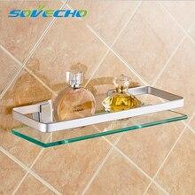 35 45 55cm single tier wall toilet glass bathroom shelf