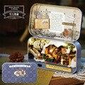 Q006 Железный ящик miniaturas Кукольный Дом Diy миниатюрный 3D Деревянные Головоломки Кукольный Домик Мебель Кукольный Дом Романтическая зима
