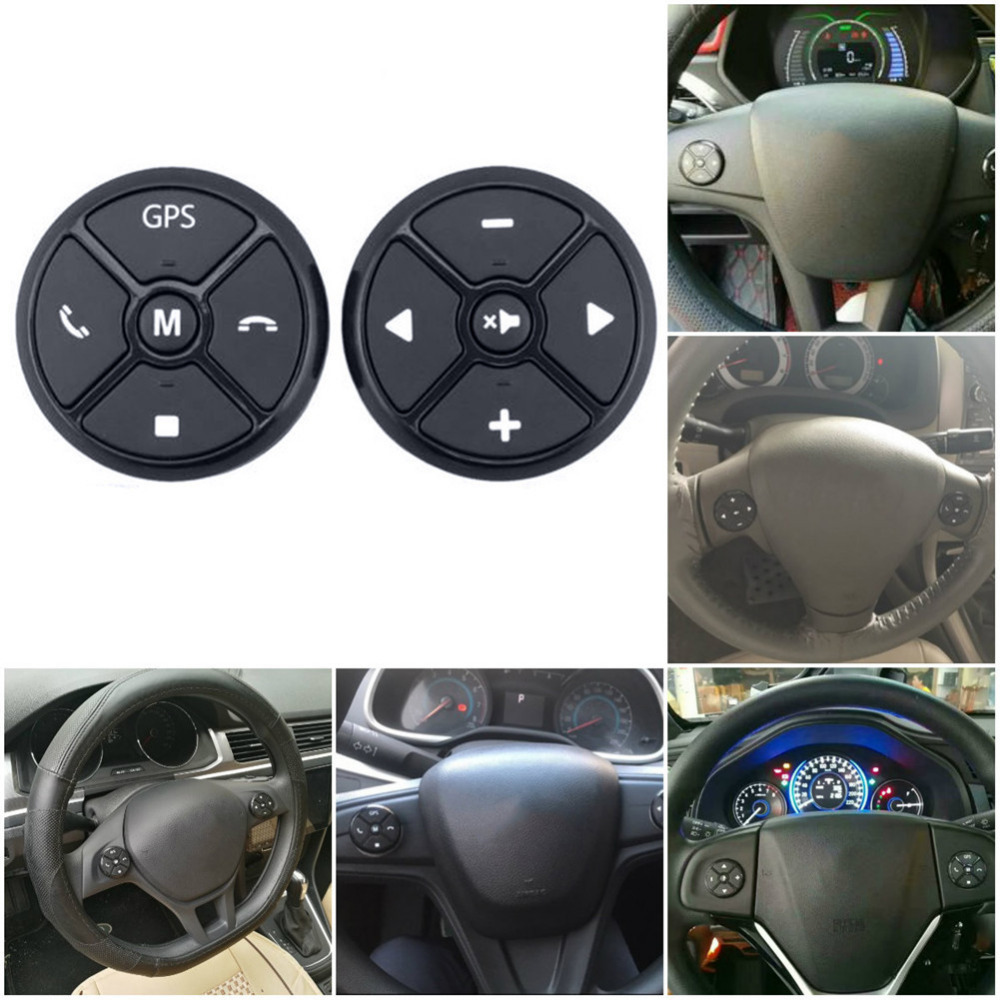 Universal Car Wireless Steering Wheel Remote Control Wireless Multifunctional DVD Navigation Keypad Remote Control