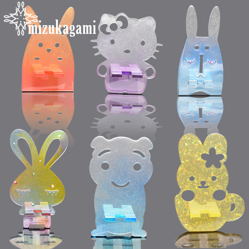 1pcs UV Resin Jewelry Liquid Silicone Mold Mirror Support Mobile Phone Crystal Epoxy Silicone Resin Mold For Jewelry Making