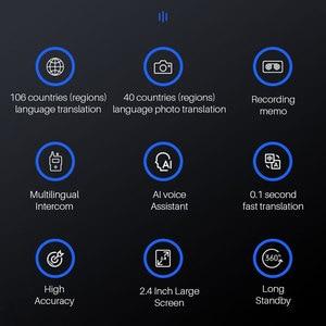 Image 2 - ポータブル言語翻訳音声写真翻訳双方向翻訳多言語ポータブルスマート音声翻訳