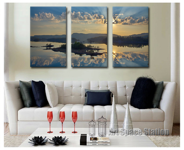 Large Cheap Canvas Prints Seascape oil painting printing pictures on ...