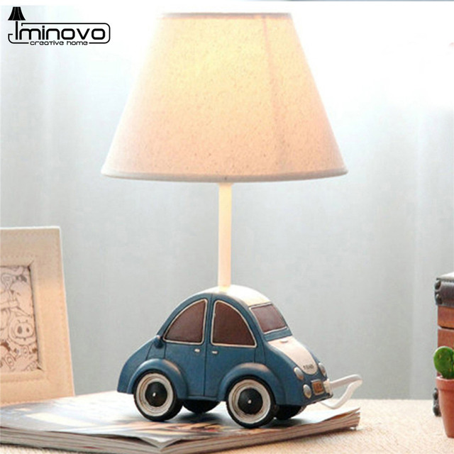 Aliexpress buy iminovo table lamp e14 bulbs dimmable bedside iminovo table lamp e14 bulbs dimmable bedside lamp cute blue car lighting desk lamps for living mozeypictures Choice Image