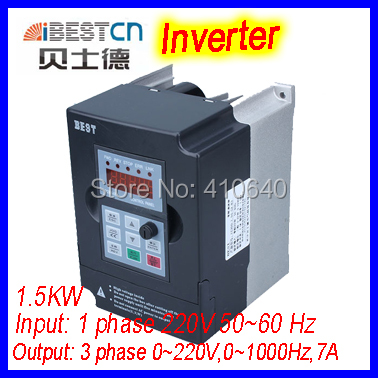 BEST 1.5kw Inverter  converter  FC300 input 220V into 0 to 220V output 0-1000Hz output 7A 24000rpm for 0.3 to 1.5kW spindle fc 051p1k5s2e20h3bxcxxxsxxx inverter