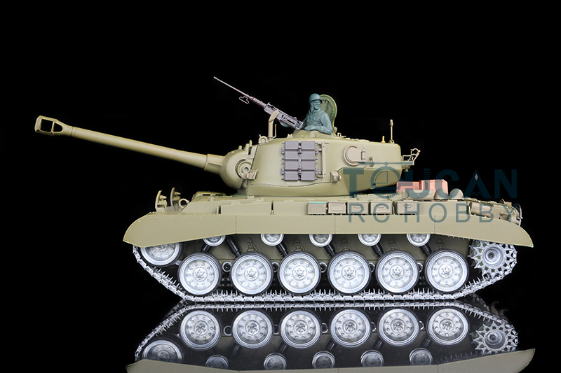 HengLong 1/16 USA Pershing M26 RTR RC Tank Customized Ver Metal Road Wheels 3838 цены онлайн