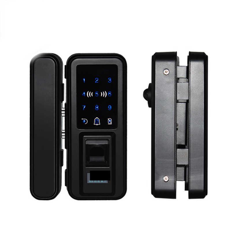 Serrure biométrique intelligente d'empreinte digitale de serrure de porte en verre sans clé avec le mot de passe à télécommande d'app