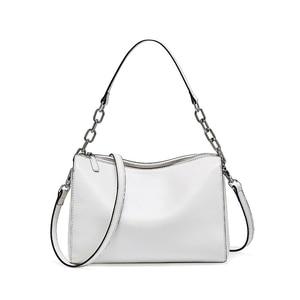 Image 4 - BRIGGS Chain Bag Crossbody Bags For Women Genuine Leather Shoulder Bag Flap Luxury Handbags Women Bags Designer black white