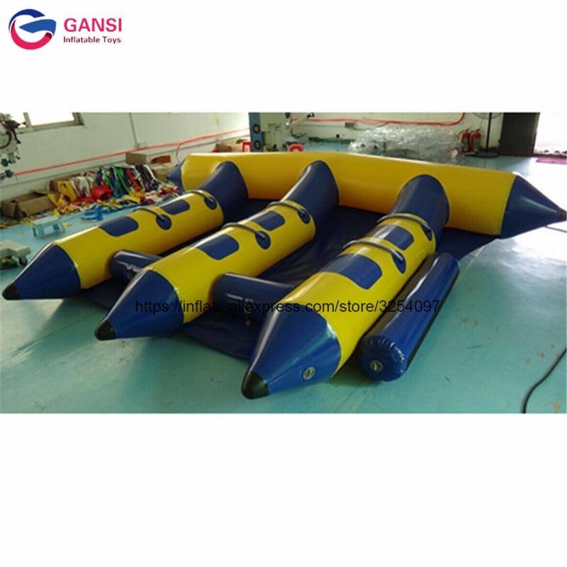 2019 heißer produkt aufblasbare wasser banana boot 4X3 m aufblasbare fliegende fische anhänge für erwachsene - 4