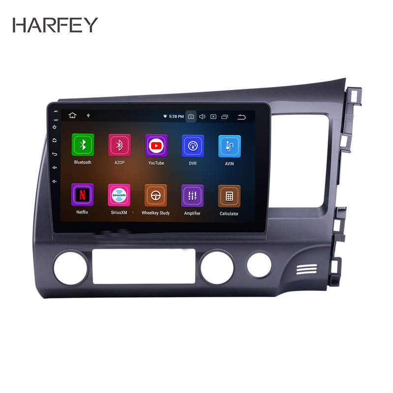 Harfey 10 1 Android 9 0 Car Radio Stereo Multimedia Player Car Radio For Honda CIVIC