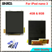Sinbeda High Quality LCD Screen Replacement For iPod Nano 3 3th Gen 4GB 8GB LCD Display without Touch Screen For iPod Nano 3th ipod touch 7 case ipod touch 6 case heavy duty protection shockproof high impact armor cover for apple ipod touch 5 6 7th gen