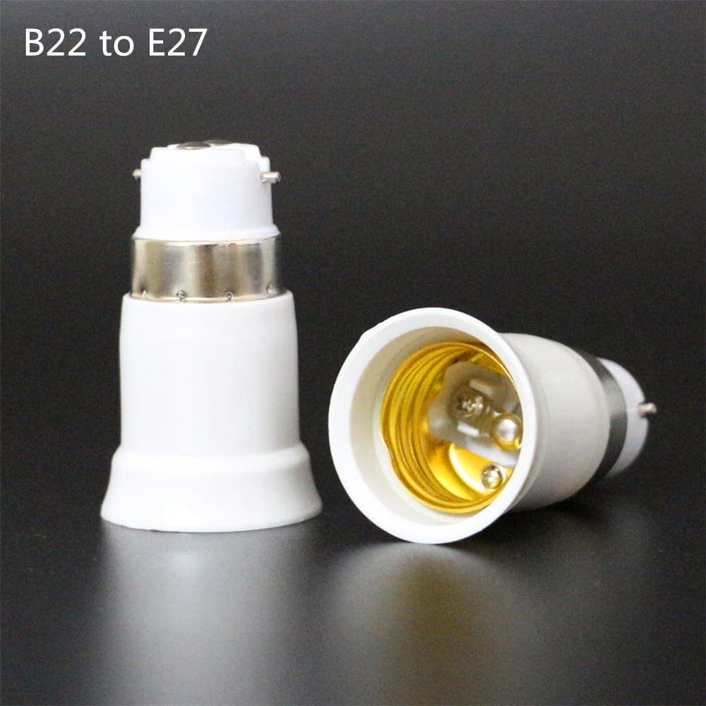 1 шт. большая акция B22 к E27 огнеупорный материал держатель лампы конвертер гнездо лампочки базовый тип адаптера