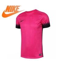 Оригинальный Новое поступление Официальный NIKE Футбол мужские футболки с коротким рукавом Спортивная полиэстер дышащий трикотаж 742706