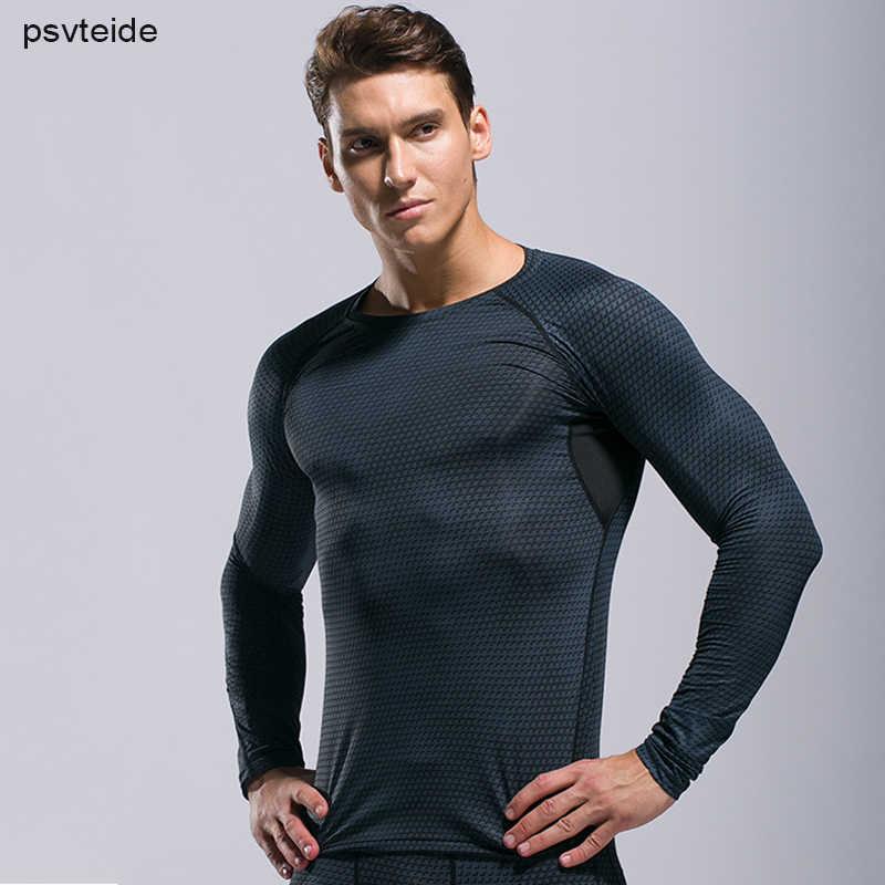 Fitness Lengan Panjang Pria Running Pria Lengan Panjang Sport T Shirt Latihan Tshirt Lengan Penuh Pria Bodybuilding K Berlaku Cepat Kering