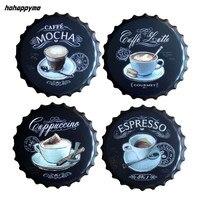 Эспрессо Caffe латте пивная бутылка колпачок металлические кофейные таблички на стену Ретро Художественный Плакат Металлические винтажные о...