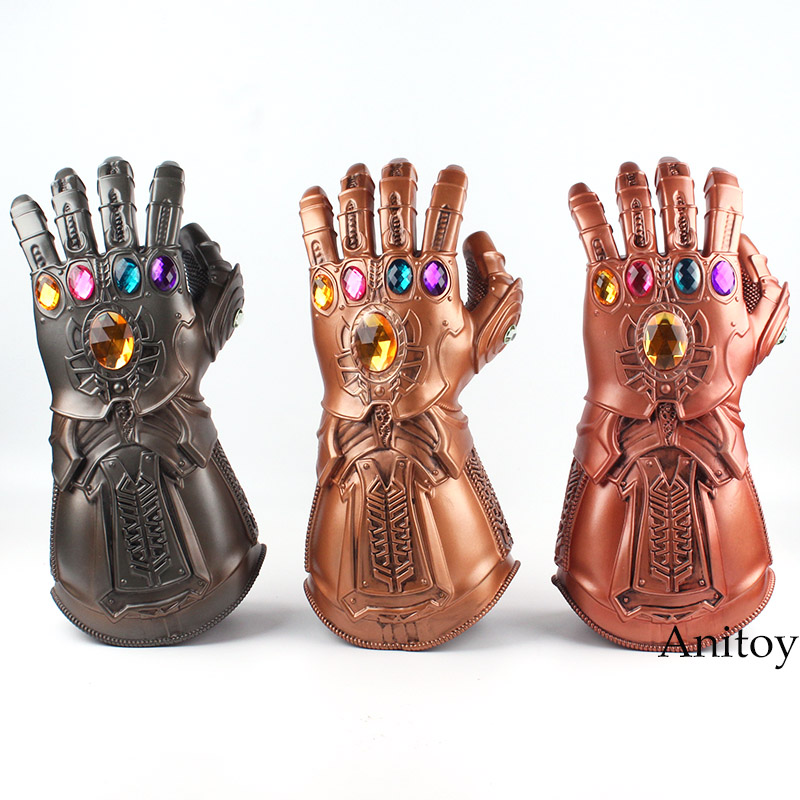 High Quality Avengers Infinity War Thanos Cosplay Avenger Thanos Gauntlet Glove 1:1 Halloween Party Props Deluxe PVC Figure Toys