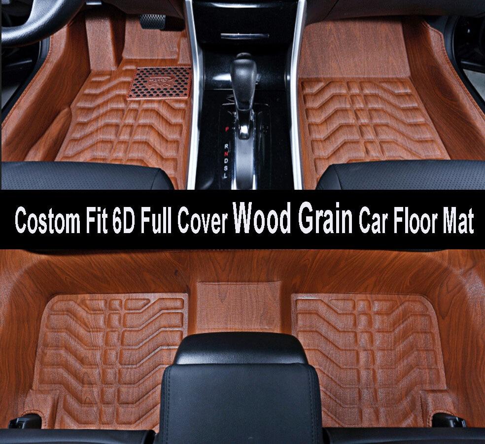 Floor mats rav4 - Car Styling Costom Fit Stereo High Edge 6d Full Cover Wood Grain Car Floor Mat