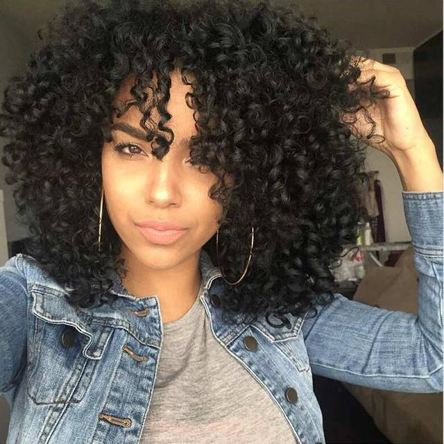 Afro Wig Curly Synthetic Wigs for Black Women Kinky Curly Synthetic Wigs Long Black African American Cheap Hair